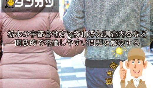 北関東エリア栃木宇都宮地方の探偵調査内容の料金浮気相談について